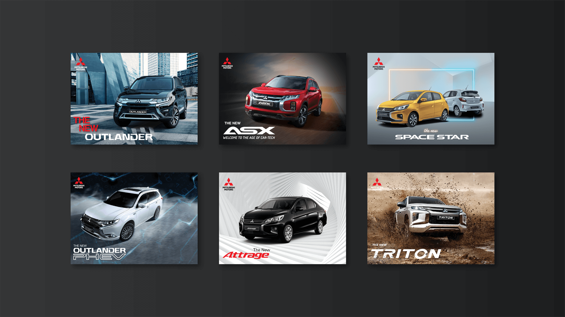 Mitsubishi catalogue covers